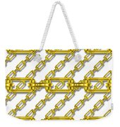 Golden Chains With White Background Seamless Texture Weekender Tote Bag