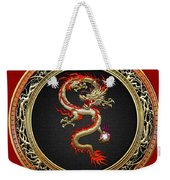 Golden Chinese Dragon Fucanglong Weekender Tote Bag