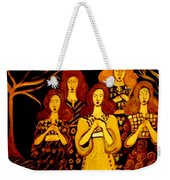 Golden Chords Weekender Tote Bag