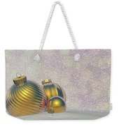 Golden Christmas Balls - 3d Render Weekender Tote Bag