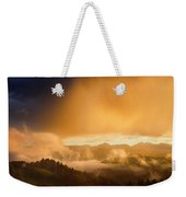Golden Clouds And Fog At Sunrise In The Mountains Of Kamnik Savi Weekender Tote Bag