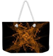 Golden Crosshatch Scribble  Weekender Tote Bag