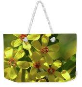 Golden Currant Blossoms Weekender Tote Bag