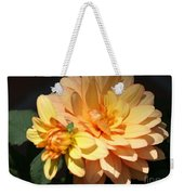 Golden Dahlia With Bud Weekender Tote Bag