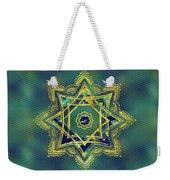 Golden Decorative Star Of Lakshmi - Ashthalakshmi  Weekender Tote Bag