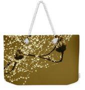 Golden Dewdrops Weekender Tote Bag
