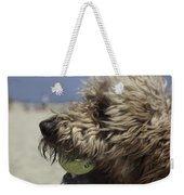 Golden Doodle And His Ball Weekender Tote Bag