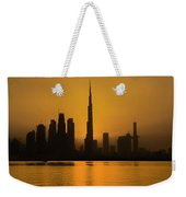 Golden Dubai Weekender Tote Bag