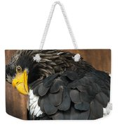 Golden Eagle Cleans Its Feathers Weekender Tote Bag