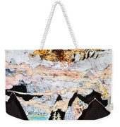 Golden Eagle Flies Above Clouds And Mountains Weekender Tote Bag by Carol  Law Conklin