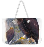 Golden Eagle Antique Print John Gould Birds Of Great Britain Weekender Tote Bag