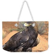 Golden Eagle On Rabbit Weekender Tote Bag