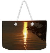 Golden Evening Sun Rays Weekender Tote Bag