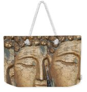 Golden Faces Of Buddha Weekender Tote Bag