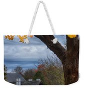Golden Fall Colors Over Iron Works Weekender Tote Bag