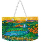 Golden Farm Scene Sketch Weekender Tote Bag