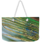 Golden Feather Weekender Tote Bag