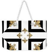 Golden Fleurs-de-lis Optical Illusion Weekender Tote Bag