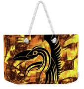 Golden Flight Contemporary Abstract Weekender Tote Bag