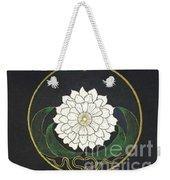 Golden Flower Mandala Weekender Tote Bag