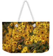 Golden Flowers Weekender Tote Bag