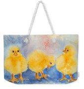Golden Fluff Weekender Tote Bag