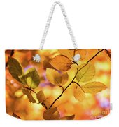 Golden Foliage Weekender Tote Bag