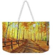 Golden Forest Weekender Tote Bag