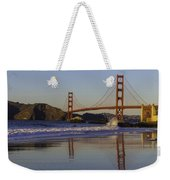 Golden Gate And Waves Weekender Tote Bag