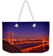 Golden Gate At Dusk Weekender Tote Bag