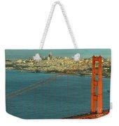 Golden Gate Bridge And San Francisco Skyline Weekender Tote Bag
