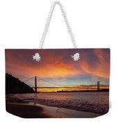 Golden Gate Bridge At Dawn Weekender Tote Bag