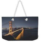 Golden Gate Bridge At Night Weekender Tote Bag