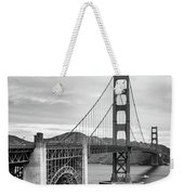 Golden Gate Bridge Black And White Weekender Tote Bag