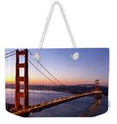 Golden Gate Bridge During Sunrise Weekender Tote Bag