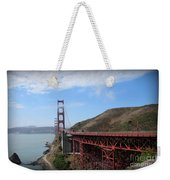 Golden Gate Bridge From The Scenic Lookout Point Weekender Tote Bag