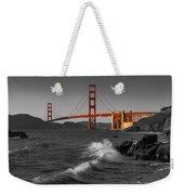 Golden Gate Bridge Sunset Study 1 Bw Weekender Tote Bag