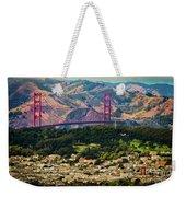 Golden Gate Bridge - Twin Peaks Weekender Tote Bag