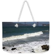 Golden Gate Bridge With Surf Weekender Tote Bag