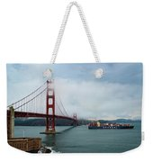 Golden Gate Ship Weekender Tote Bag