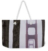 Golden Gate Through The Trees Weekender Tote Bag