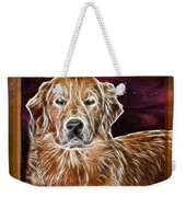 Golden Glowing Retriever Weekender Tote Bag