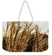 Golden Grass Flowers Weekender Tote Bag