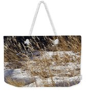 Golden Grasses In Sun And Snow Weekender Tote Bag