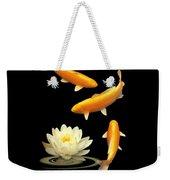 Golden Harmony Vertical Weekender Tote Bag