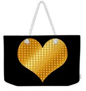 Golden Heart Black  Weekender Tote Bag
