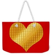 Golden Heart Red Weekender Tote Bag