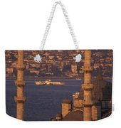 Golden Horn At Sunset From Suleymaniye Weekender Tote Bag