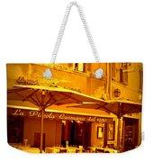 Golden Italian Cafe Weekender Tote Bag by Carol Groenen
