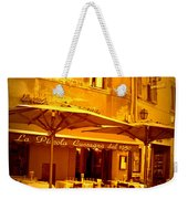 Golden Italian Cafe Weekender Tote Bag